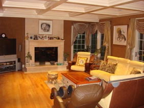 Decorative Applied Moldings Coffered Ceiling